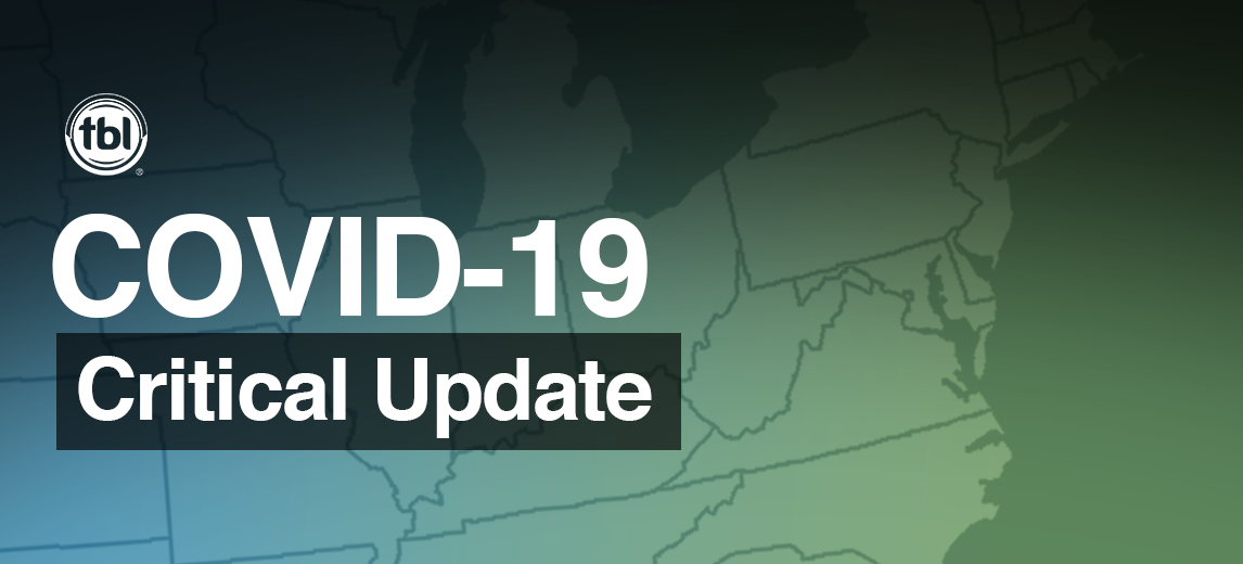 Critical Update: COVID-19 Message from TBL CEO, Patrick Tredway